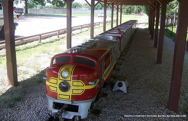 A ride on the park's miniature train costs 25 cents. Credit: Michael Bates, batesline.com