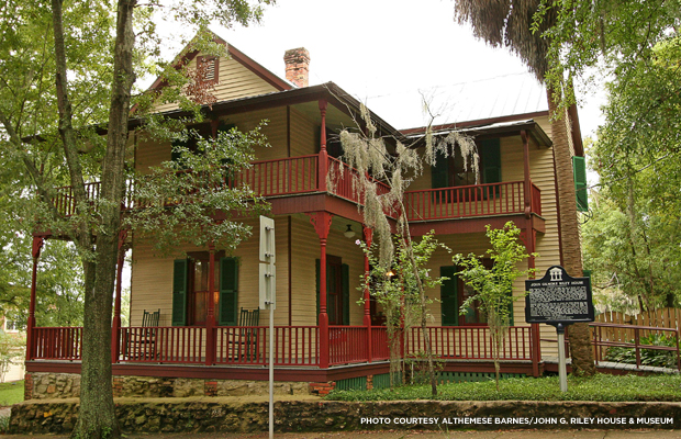 The John G. Riley House Museum in Tallahassee, Fl. Credit: Althemese Barnes/John G. Riley House & Museum.