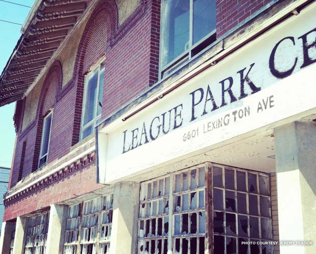 The League Park ticket booth is still standing. Credit: Jeremy Feador