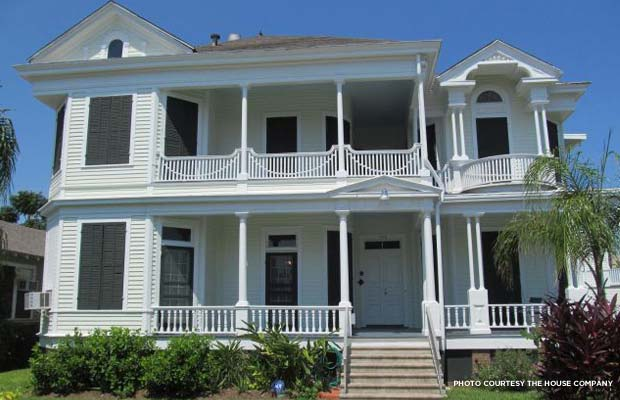 The James Waters House in Galveston, Texas. Credit: The Home Company