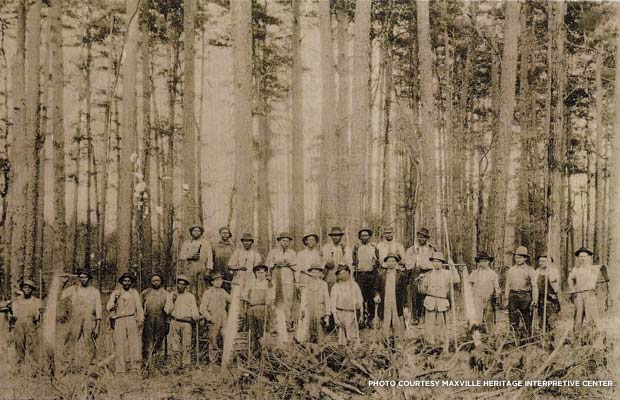 Maxville loggers. Credit: Maxville Heritage Interpretive Center