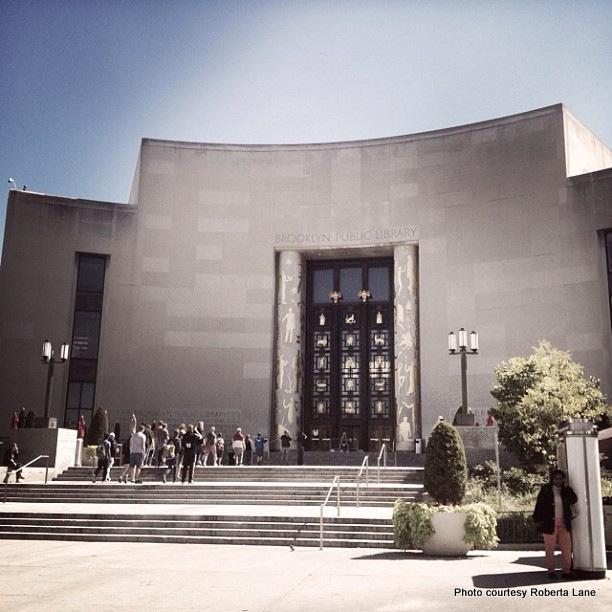 The Brooklyn Public Library was designed to look like an open book. Credit: Roberta Lane