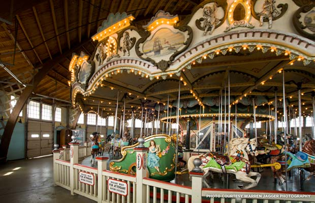 The Paragon Carousel in Hull, MA received a Partners in Preservation grant of $100,000 in 2009. Credit: Warren Jagger Photography
