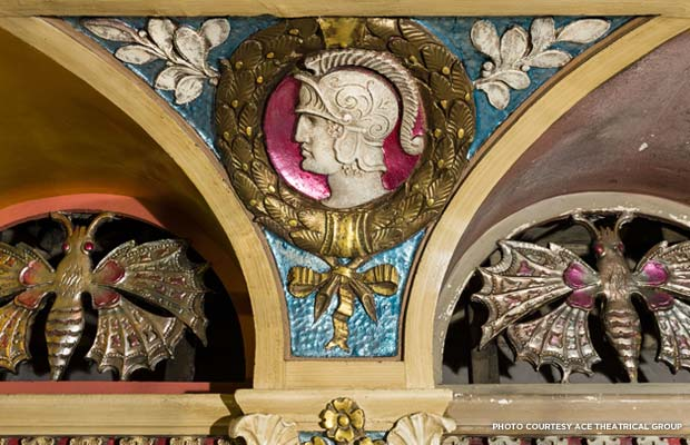 A detail from the interior restoration of the theater. Credit: ACE Theatrical Group