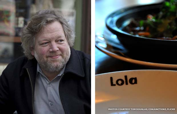 Seattle restaurateur Tom Douglas; food at his restaurant Lola. Credit: Tom Douglas; conjunction3, Flickr