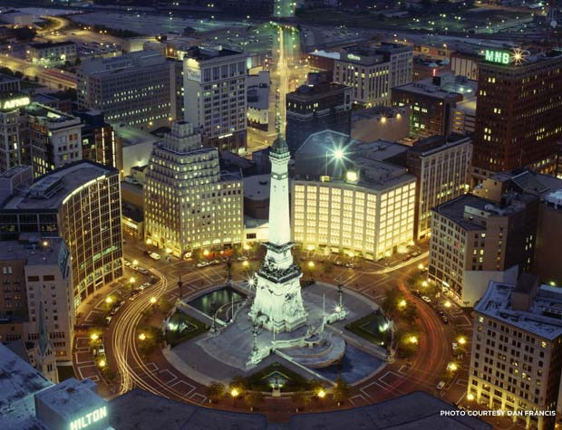 View of Indianapolis, the Circle City. Credit: Dan Francis