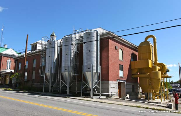The building now serves as a small-business incubator, as well as housing the mill. Credit: Amber Lambke