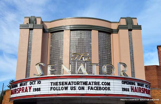 The Senator's exterior post-restoration, ready for opening night. Credit: Senator Theatre