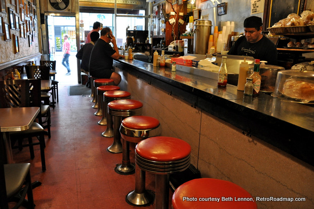 Step up to the counter and step back in time at Eisenberg's. Credit: Beth Lennon, RetroRoadmap.org