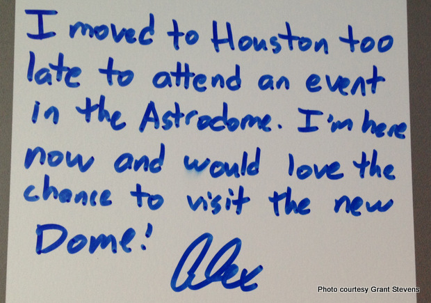 Astrodome Memory Wall #8. Credit: Grant Stevens