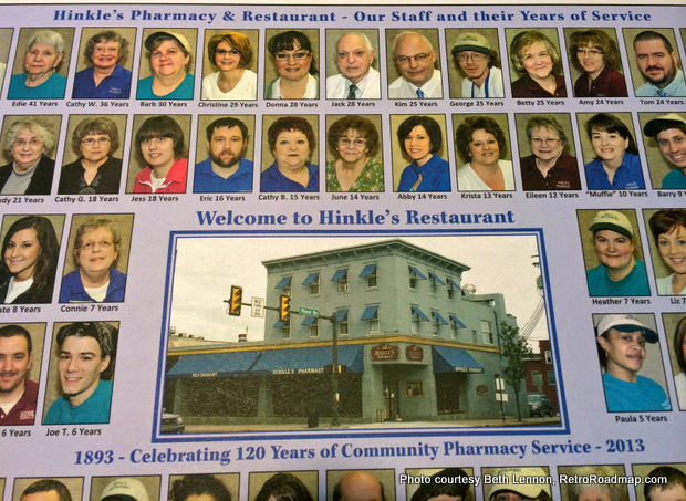 Hinkle's Pharmacy - Columbia PA -  120 Years of Service. Credit: Beth Lennon, RetroRoadmap.com