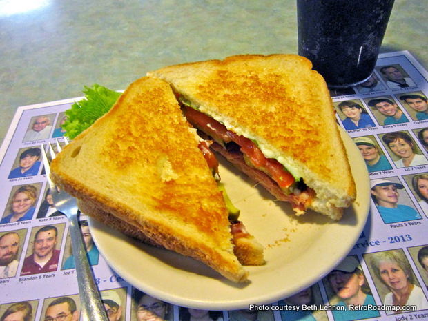 Hinkle's Pharmacy - Columbia PA - Grilled Shifter Sandwich. Credit: Beth Lennon, RetroRoadmap.com