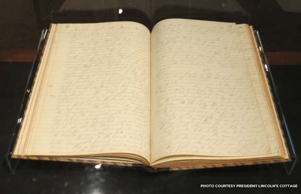 The Civil War diary of A.N. See, a member of Abraham Lincoln's Presidential Guard. Credit: President Lincoln's Cottage
