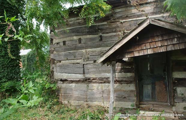 Colonel Charles Young was born in this cabin in May's Lick, Ky., in 1864. Credit: Bill Macintire, Kentucky Heritage Council