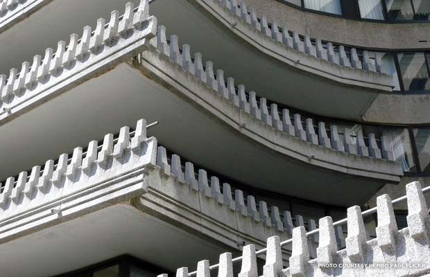 One of many Modernist details at the Watergate. Credit: Hembo Pagi, Flickr