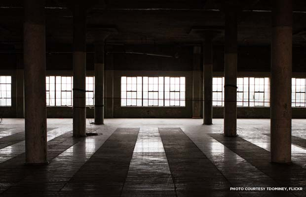 Inside the unrenovated Ponce City Market. Credit: tdominey, Flickr