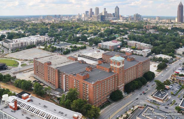 Bird's eye view of Ponce City Market in Atlanta. Credit: Sarah Dorio