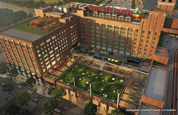Rendering of the completed Ponce City Market. Credit: Ponce City Market