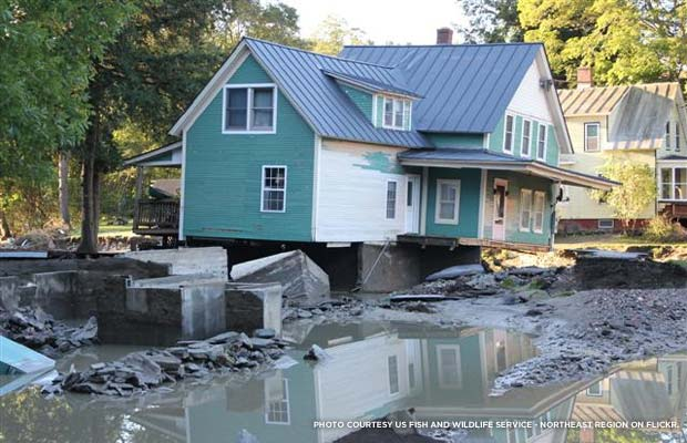 Hurricane Irene damage in Bethel, VT. Photo courtesy US Fish and Wildlife Service - Northeast Region on Flickr.