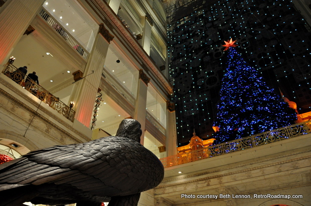 View from the lobby in Macy's Center City, Philadelphia. Credit: Beth Lennon, RetroRoadmap.com