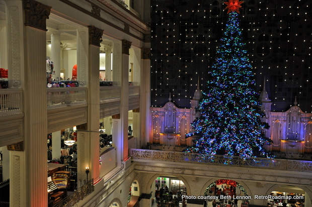 The Wanamaker/Macy's Christmas Tree. Credit: Beth Lennon, RetroRoadmap.com