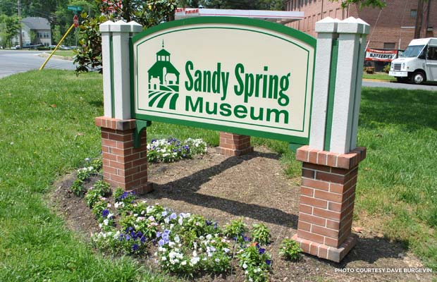 Sandy Spring Museum sign. Credit: Dave Burgevin