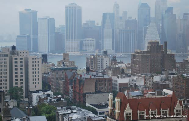 View of Manhattan from Brooklyn. Credit: SmartSign.com