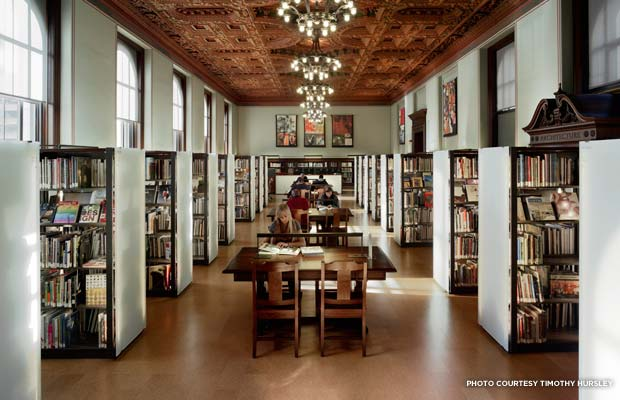 The interior of the St. Louis Central Library after its $68 million dollar renovation. Credit: Timothy Hursley