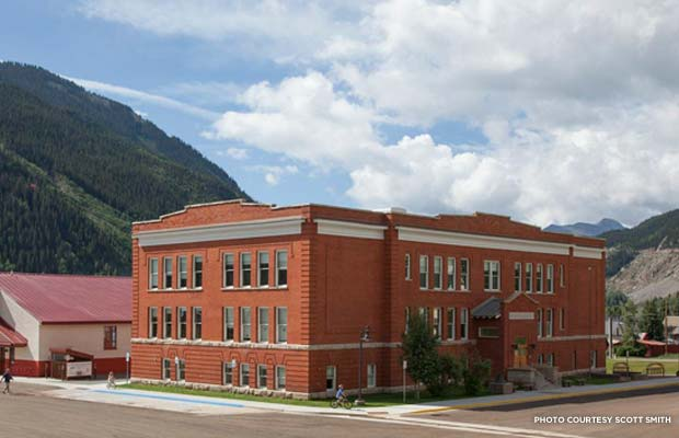Silverton's 1911 school serves grades K-12 and sits at 9,305 feet above sea level. Credit: Scott Smith