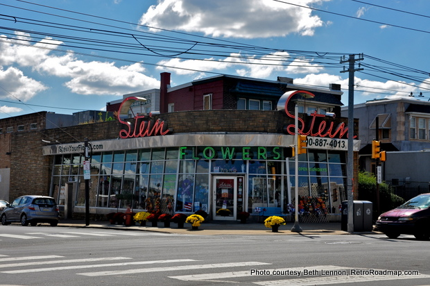 Stein Your Florist Philadelphia PA - Neon Exterior Wide  -RetroRoadmap
