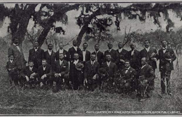 The officers and directors of Austin's Emancipation Park Association, 1909. Credit: PICA 20862, Austin History Center, Austin Public Library