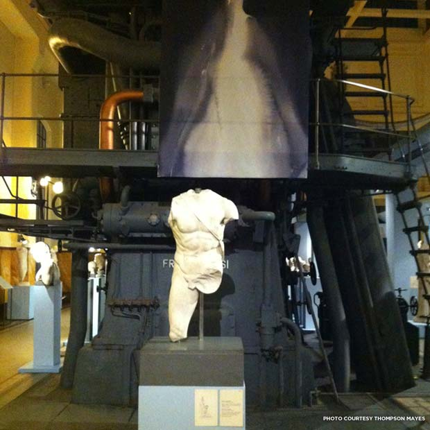 "Patricia Cronin's ""Ghosts"" exhibit at Museo Centrale Montemartini, Rome, Italy. Credit: Thompson Mayes"