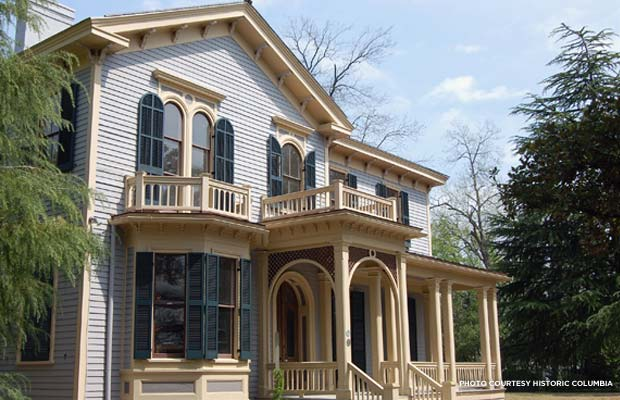 The project restored the original paint scheme to the Woodrow Wilson Boyhood Home. Credit: Historic Columbia
