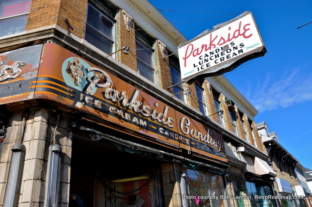 Parkside Candies Buffalo NY Exterior Retro Roadmap