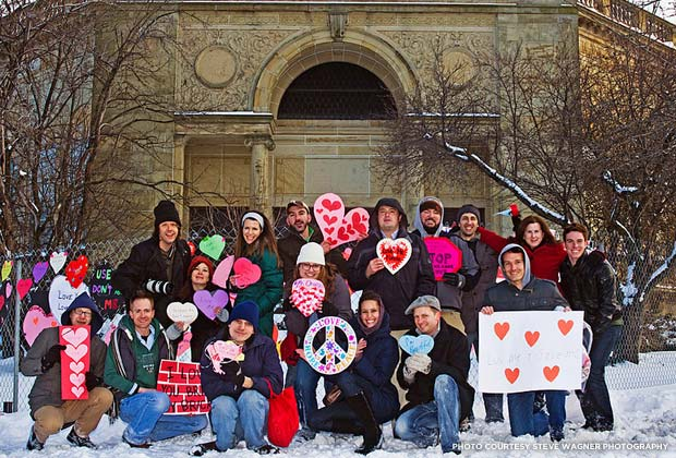 City Beautiful heart-bombed in Cleveland. Credit: Steve Wagner Photography