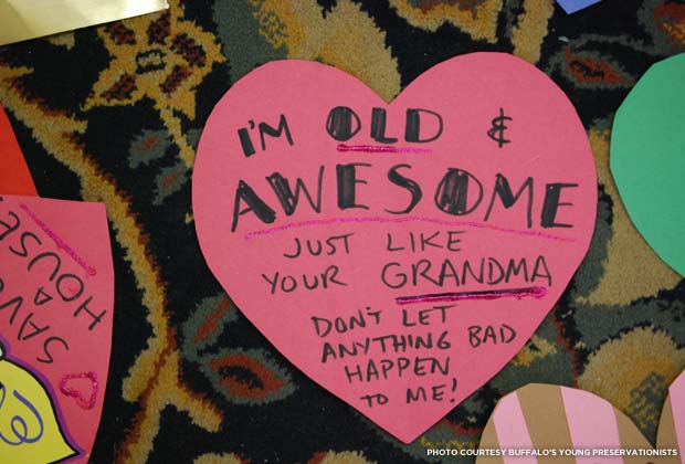 Heart bomb Valentine. Credit: Buffalo's Young Preservationists