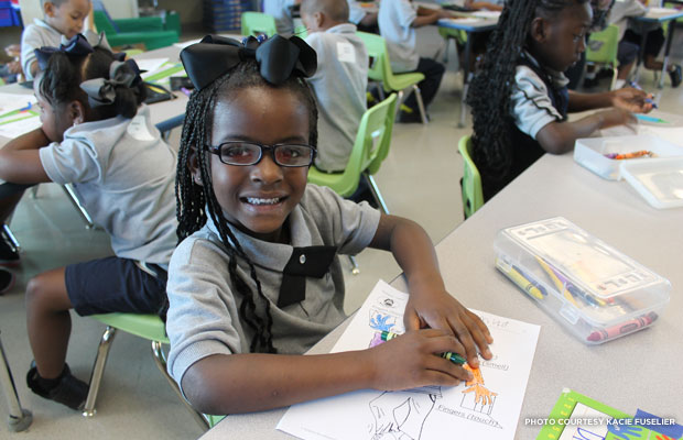 Students learn in new state-of-the-art classrooms in the same school building where Ruby Bridges helped to end school segregation in New Orleans.