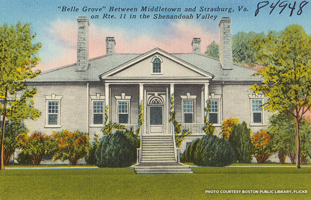 Belle Grove Plantation, built in 1797 in Middletown, Va.