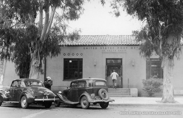 La Jolla Post Office, 1945. Credit: Save Our La Jolla Post Office