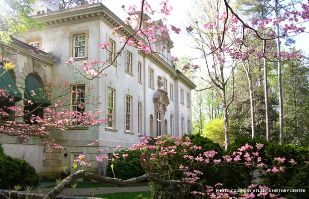 Swan House was built in 1928 as a Classical mansion. Credit: Atlanta History Center