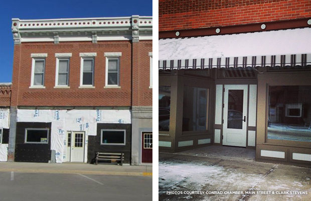 Credit: Conrad Chamber, Main Street (left) & Clark Stevens (right)