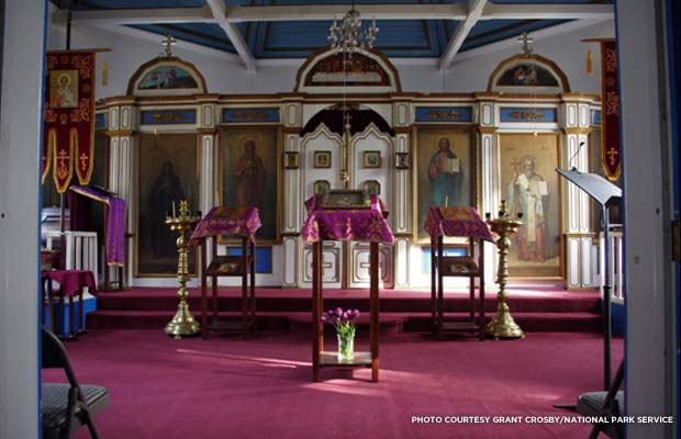 The church's interior. Credit: Grant Crosby, National Park Service