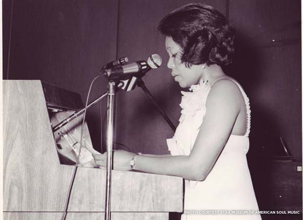 16-year-old Deanie Parker wanted to be a singer when she knocked on the door at Stax, but took a job at the label's record store and worked her way up to director of publicity. Credit: Stax Museum of American Soul Music