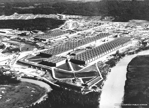 Aerial view of the plant in Oak Ridge, Tennessee. Credit: American Museum of Science and Energy