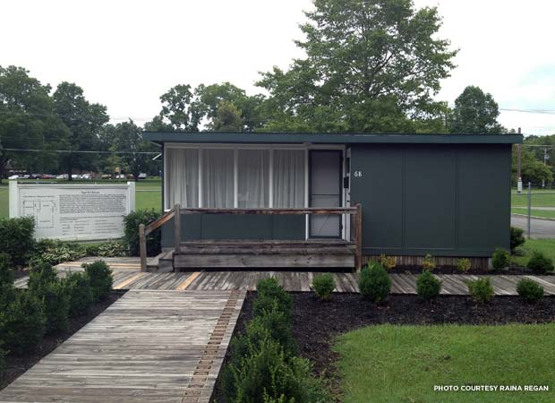 An original, Manhattan Project-era flattop house is authentically interpreted as an outdoor exhibit at the American Museum of Science and Energy. Credit: Raina Regan