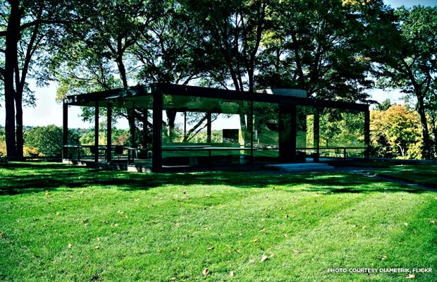 Open seasonally, the Philip Johnson Glass House offers tours, special events, and related programming to the public. Visitors can join them for the 2013 season beginning May 2. Credit: diametrik, Flickr