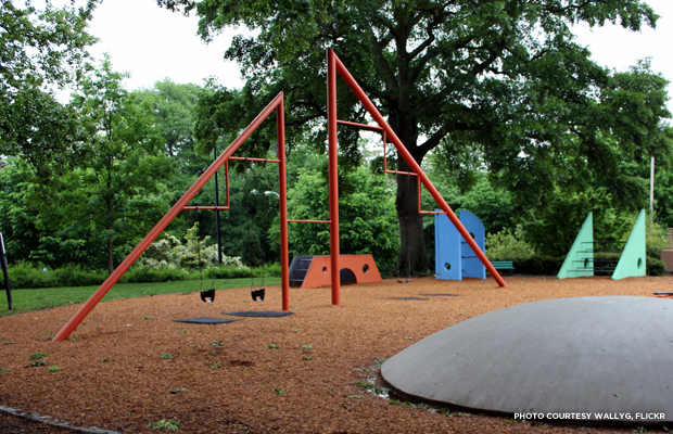 The Isamu Noguchi Playscape: Is it a park? Is it sculpture? Let's call it visionary playground design. Credit: wallyg, Flickr.