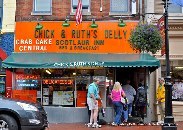 Chick & Ruths Delly Annapolis MD - Exterior. Credit: Beth Lennon, RetroRoadmap.com