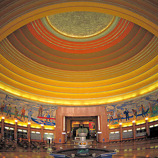 Union Terminal's rotunda was the world's largest half dome when it was constructed in 1933
