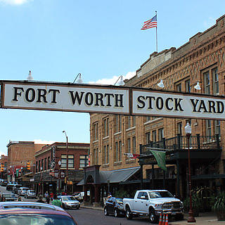 Entrance to the Fort Worth Stockyards